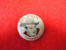 Billy DeWolfe Movie Star Pinback, Quaker Oats Puffed Wheat And Rice, Paramount