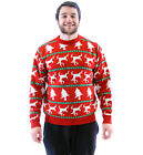 Adult Trees and Dead Reindeers Funny Red Ugly Christmas Xmas Pattern Sweater