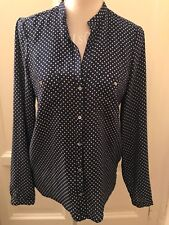 Camicia blu pois ZARA polka dot navy blue shirt M