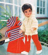 "Dolls clothes knitting pattern.17 -18""doll.  (V Doll 13)"