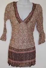 New_Lovely_Boho Shirt_Empire waist V-neck Cotton Tunic Top_S, M, L