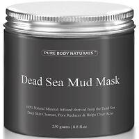 Pure Body Naturals Dead Sea Mud Mask 100% 8.8 fl oz 250 grams BEST SELLING