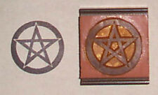 Pentagram Large 1.5 inch rubber stamp by Amazing Arts wiccan symbol
