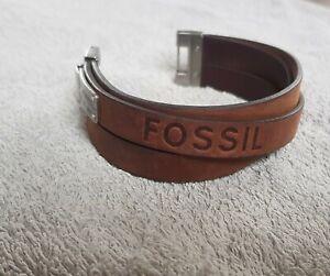 fossil herren armband leder