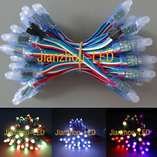 50PCS WS2801 IC RGB 12mm Pixels Individual Addressable LED String Module IP68 5V