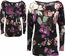 Unbranded Floral Thin Hip Length Women's Jumpers & Cardigans