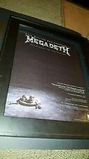 Megadeth Countdown To Extinction Rare Original Promo Poster Ad Framed!