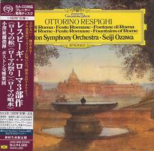 SHM SACD Respighi - Pines of Rome, Fountains of Rome, Ozawa Japan OOP NEU MINT