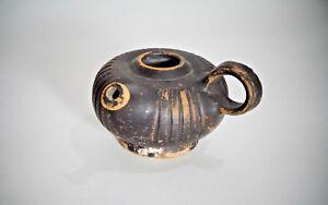 RARE ITEMS A Greek Pottery Blackware Guttos
