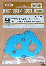 TAMIYA 49433 df-03 scatola del cambio piastra Set (BLU) (Dark/df03/df03ra/df03ms) IMPACT Nuovo con imballo