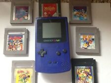 Nintendo  Game Boy Color Grape with 7 games