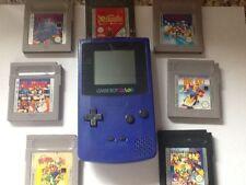 Nintendo  Game Boy Color Grape with 7 games