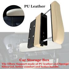Beige Car Seat Pocket Storage Armrest Box Organizer Holder Part Relax Arm w/USB