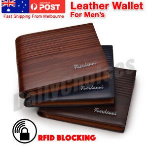 RFID Blocking Leather Credit Card Holder Case Money cash Wallet Slim Purse OZ