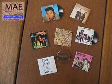 7 Record Miniature, artisan.Pink Floyd,Elvis,Rolling Stones,Beatles,Led Zeppelin