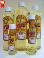 SWEET ALMOND OIL REFINED ORGANIC CARRIER COLD PRESSED 100%  PURE 2 OZ-64 OZ