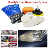 Car Headlight Lens Restoration Kit Auto Headlamp Light Lamp Cleaner Restore Tool