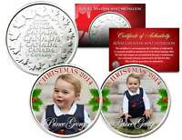 PRINCE GEORGE * 2014 CHRISTMAS * Set of 2 Royal Canadian Mint Medallion Coins