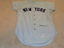 Bobby Cox Game Worn Signed Flannel Jersey 1970 New York Yankees HOF Steiner