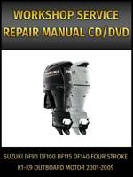 Suzuki DF90 DF100 DF115 DF140 Outboard Motor Service Repair Manual 2001-2009 CD
