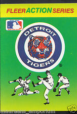 Fleer 1990 Baseball Card - Fleer Action Series - Detroit Tigers