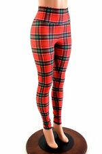 SMALL Red/Green Plaid High Waist Spandex Leggings Ready To Ship!