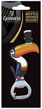 Guinness Toucan Fridge Magnet with Metal Bottle Opener Irish Beer Motif