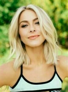 2021 Medium Nature Straight Light Blonde Womens Synthetic Wigs 12 In