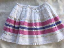 NWT GYMBOREE Girls Sz 7 Desert Dreams Sparkle Stripe Skirt Pink Blue White Gold