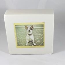 NEW Rae Dunn Paperweight Polaroid Dog I Need Coffee Block