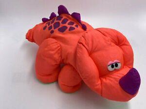 Fisher Price Puffalump Dinosaur Roar Sound Plush Orange Purple Triceratops 1992