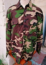 Rothco Men's Heavyweight Woodland Camouflage Flannel Shirt Size XL Camo