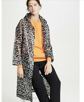 NWT Proenza Schouler Notebook Printed Hooded Button Up Women's Raincoat XS