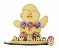 Personalised Easter Chick Shape Mini Creme Egg Holder Perfect Gift For Boy Girl