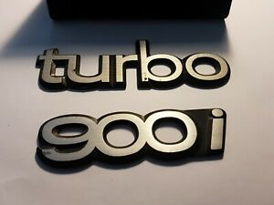 Saab 900i Turbo Badges