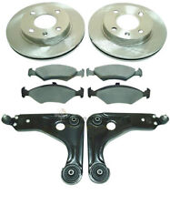FORD KA 1.3 00-07 FRONT 2 BRAKE DISCS & PADS SET NEW AND 2 LOWER WISHBONE ARMS