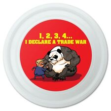 "Donald Trump Trade Thumb War with China Panda Novelty 9"" Flying Disc"