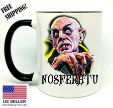 Nosferatu, Vampire, Birthday, Christmas Gift, Black Mug 11 oz, Coffee/Tea