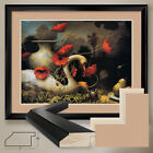 """40W""""x32H"""": THE SEDUCTION OF CYGNUS by KEVIN SLOAN- DOUBLE MATTE, GLASS and FRAME"""