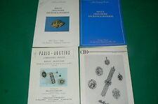 Lot 4 Catalogues anciens vente aux enchères d'argenterie bijoux DROUOT années 80
