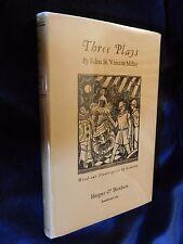 """Edna St Vincent Millay THREE PLAYS Harper 1926 1st ed  """"I - A"""" Jacket! F/VG++"""