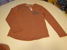 Men's Volcom stone surf skate brand long sleeve shirt med M red heather NWT