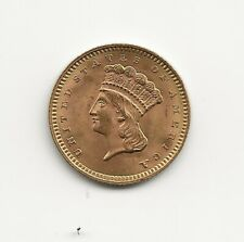 1859 $1 Indian Head Gold coin, XF