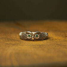 Sterling Silver Gorgeous Owl Ring, Silver owl fashion, wise owl, owl wings