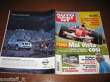 AUTOSPRINT 2005/13=FERRARI F2005=RENAULT LAGUNA GT=BRIATORE=PUBBLICITA' NISSAN