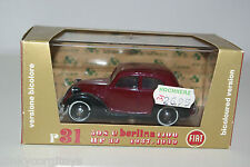 BRUMM R31 FIAT 508 C BERLINA 1100 1937-1939 MAROON MINT BOXED RARE SELTEN!!