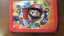 Super Mario Bros children  TRI-FOLD WALLET PURSE NINTENDO SERIES Toon Coin Game