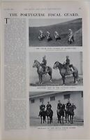 1901 PRINT PORTUGUESE FISCAL GUARD MOUNTED MEN CUSTOMS FORCE FOOT GUARDS