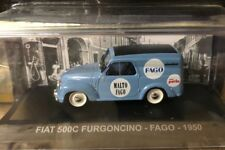 """DIE CAST """" FIAT 500C FURGONCINO - FAGO - 1950 """" PUBBLICITARI 1/43"""