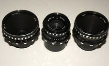 3 Soviet 16 mm Movie lenses Vega-7 Vega-9 Mir-11 Krasnogorsk BlackMagic BMPCC